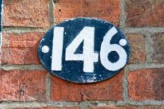 Tecken för husnummer 146 Royaltyfria Foton