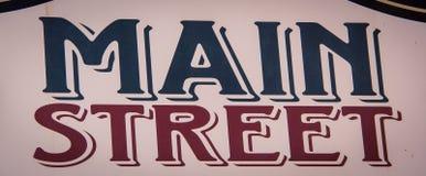 Tecken för huvudsaklig gata Royaltyfri Bild