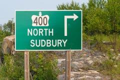 Tecken för huvudväg 400 Arkivfoton