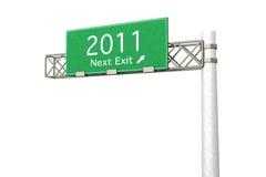 tecken för huvudväg för 2011 utgång nästa Royaltyfri Fotografi