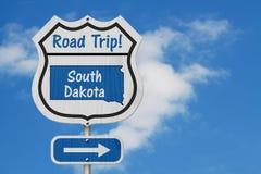 Tecken för huvudväg för South Dakota vägtur royaltyfri bild