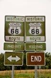 Tecken för Illinois Route 66 Arkivfoto