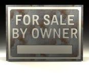 tecken för info-ägareförsäljning Arkivbild
