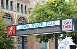 Tecken för Iowa statmässa Arkivfoton