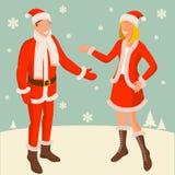 Tecken för jul och för nytt år stock illustrationer