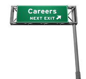 tecken för karriärutgångsmotorväg arkivfoto