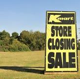 Tecken för Kmart lagerbokslut arkivbilder