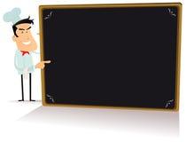 Tecken för kockkock- och Blackboardrestaurang Arkivbild