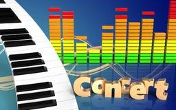 tecken för konsert för tangentbord för piano 3d Arkivbild