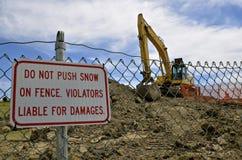 Tecken för konstruktion för snöborttagning Royaltyfria Foton