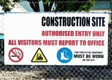 Tecken för konstruktionsplats Royaltyfri Fotografi