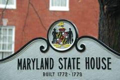 Tecken för Maryland tillståndshus Royaltyfri Bild