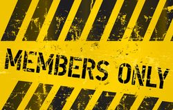 Tecken för medlemmar endast Royaltyfri Foto