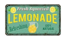 Tecken för metall för lemonadtappning rostigt stock illustrationer