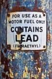 Tecken för motorbränsle endast Royaltyfri Fotografi