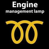 Tecken för motorledninglampa Proppsymbol också vektor för coreldrawillustration Varningsinstrumentbrädaljus och symbol vektor illustrationer
