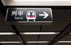 Tecken för MTR-drevstation Royaltyfria Bilder