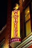 Tecken för Nashville stadsneon Royaltyfri Bild