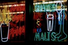 tecken för neon 3 Arkivbild