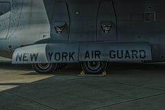 Tecken för New York luftvakt på globemaster Fotografering för Bildbyråer