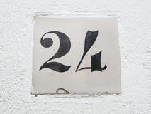 Tecken för nummer 24 Fotografering för Bildbyråer