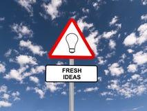 Tecken för nya idéer Royaltyfri Fotografi