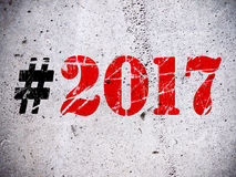 Tecken för nytt år 2017 Arkivfoton