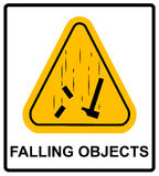 Tecken för objekt för fara fallande varnande också vektor för coreldrawillustration Royaltyfri Bild