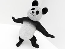 Tecken för panda 3d med hår Arkivfoton