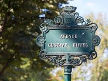 Tecken för Paris gatanamn Royaltyfri Bild