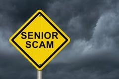 Tecken för pensionärScam varning Royaltyfri Fotografi