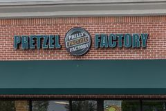 Tecken för Philly kringlafabrik Arkivbild