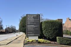 Tecken för Plaza för racketklubba, Memphis, TN fotografering för bildbyråer