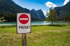 Tecken för privat egenskap arkivbild