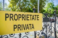 Tecken för privat egenskap royaltyfri bild
