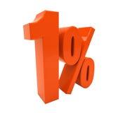 Tecken för procentrabatt 3d Arkivfoto