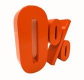 Tecken för procentrabatt 3d Royaltyfri Bild