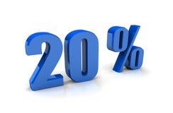 Tecken för procentsats 20 Arkivfoton