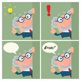 Tecken för professor Or Scientist Cartoon Samling - 3 vektor illustrationer