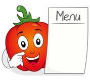 Tecken för röd peppar med den tomma menyn Fotografering för Bildbyråer