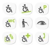 Tecken för rörelsehindrat folk Arkivbilder