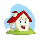 Tecken för roligt hus stock illustrationer