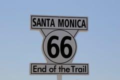 tecken för 66 route Fotografering för Bildbyråer