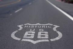 tecken för 66 route Arkivbild