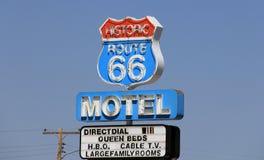tecken för 66 route Royaltyfri Fotografi