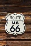 Tecken för Route 66 Arkivbild