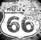 tecken för 66 route Royaltyfri Bild