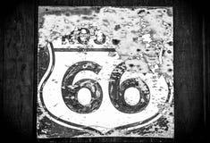 tecken för 66 route Arkivfoto