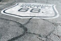 tecken för 66 route Royaltyfri Foto