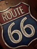 tecken för 66 route Arkivfoton